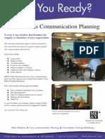 Crisis Communication Sales Sheet