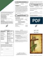 Bulletin - 20120401-Palm Sunday
