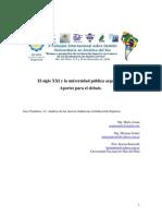 El siglo XXI y la universidad pública argentina.  Aportes para el debat