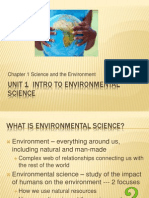 Unit 1 Intro to Environmental Science
