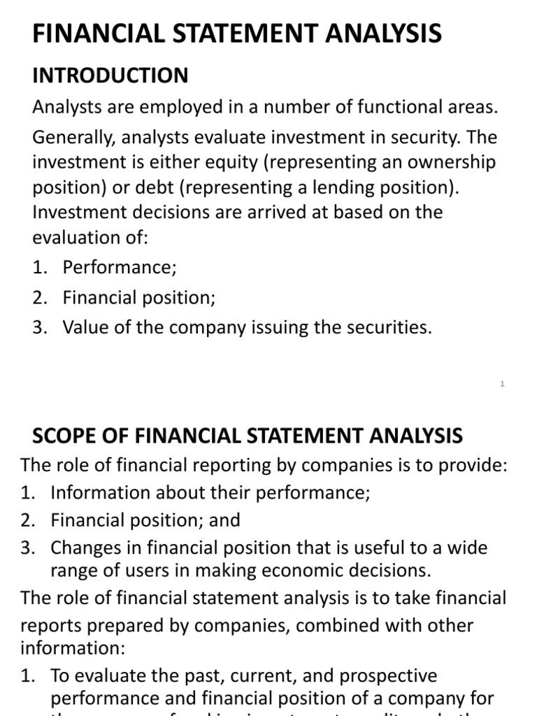 scope of investment analysis