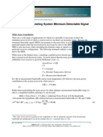 Overview of Calculating System Minimum Detectable Signal