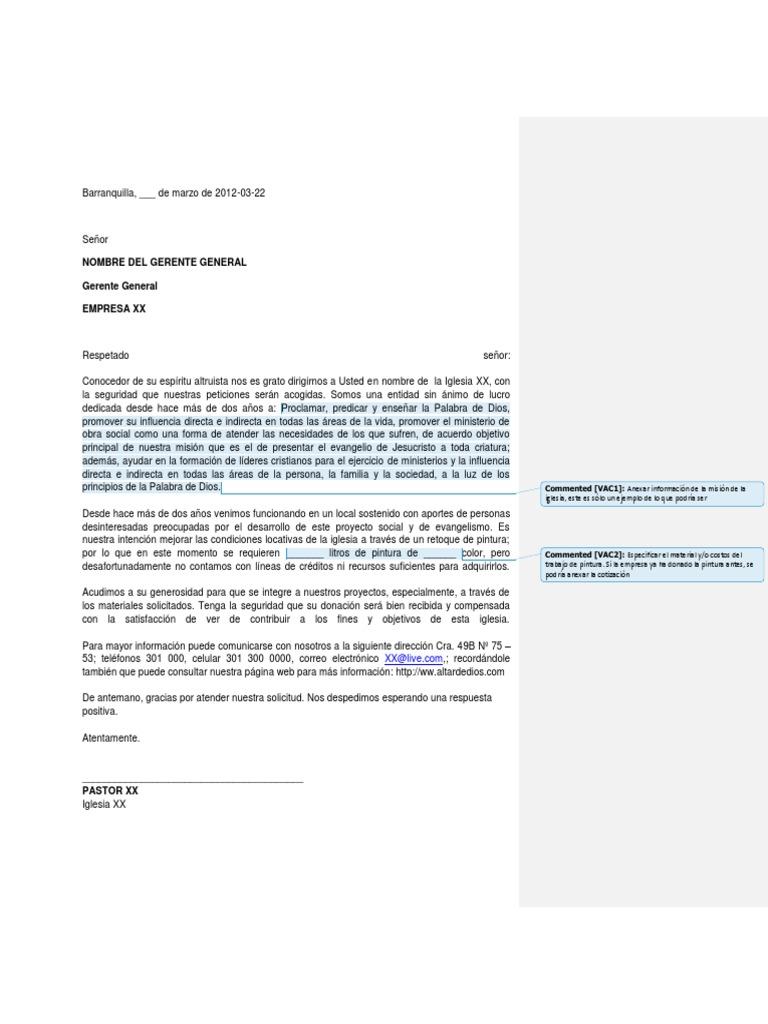 Modelo de carta de solicitud de donaci n for Modelo de proyecto de plantas ornamentales