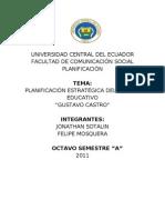 Planificacion Final- Gustavo Castro