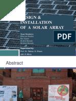 Design, Instal,Solar Array -Progress 2
