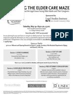 Elder Law Symposium Flier