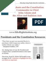 PC 1 Commander in Chief-John Adams Alien Acts-Student Program
