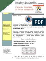 Curso Corto de Lenguaje de Señas Intermedio UPR Aguadilla