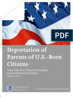 ICE - Deport of Parents of US Cit FY 2011 2nd Half