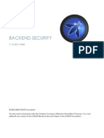 OWASP Backend Security