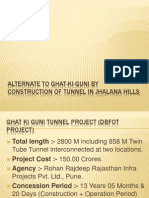 Alternate to Ghat-ki-guni by Construction of Tunnel in Jhalana Hills Jaipur