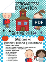 BHE PARENT Kindergarten Orientation 2012 SPRING