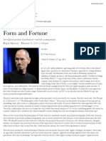 Form and Fortune