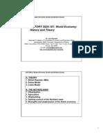 World Economy Lecture 6