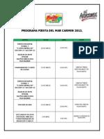 Programa de La Fiesta Del Mar Carmen 2012