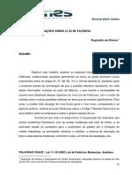 JURISPRUDÊNCIA COMENTADA - LEI DE FALÊNCIA