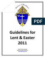 Lent & Easter Guidelines 2011