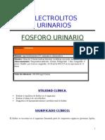 Electrolito Fosforo Urinario
