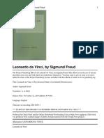 Leonardo da Vinci, by Sigmund Freud