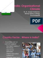 Organisational Climate in India