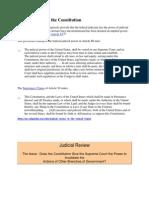 American Legislation of Judicial Review