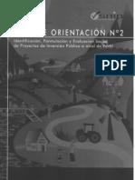 GUÍA DE ORIENTACIÓN PARA LA ELABORACIÓN DE PROYECTOS DE INVERSIÓN PÚBLICA