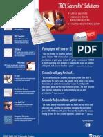 TROY SecureRx Printer Datasheet