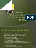Métodos de control del ruido