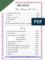 tabela de preço