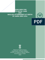 SBA MODULE Guideline for Antenatal Care