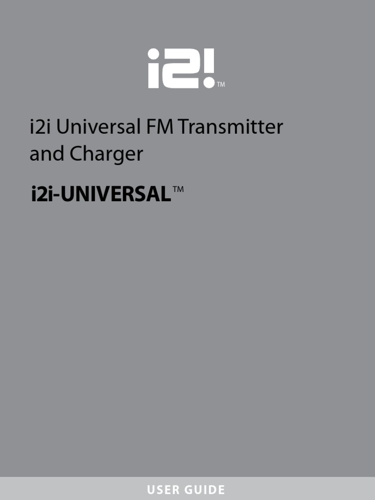 i2i Universal Transmitter Guide | Electrical Connector | Frequency  Modulation