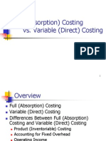 Absorption Direct Costing