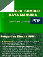 KINERJA  SDM