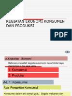 Kegiatan Ekonomi Konsumen Dan Produksi
