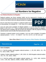 Can Rational Numbers Be Negative