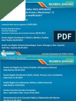 Cronograma Consulta Publica 2012 LEY DESARME, CONTROL DE ARMAS Y MUNICIONES