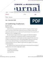 Air Conditioning of Auditoriums - Issue Jan-Mar 2003