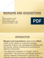 Mergers and Acquisitions Main