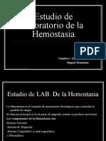 Estudio de Lab de La HeMostAsia