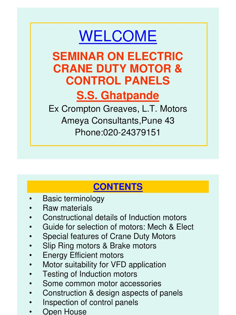 Basics of Motors & Control Panel | Engines | Insulator (Electricity)