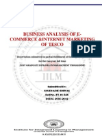 Business Analysis of E-commerce and Internet Marketing of Tesco