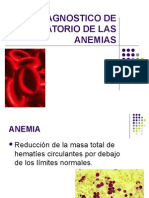 DIAGNOSTICO DE LAS ANEMIAS POR EL LABORATORIO