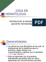 Semiologia en Hematologia