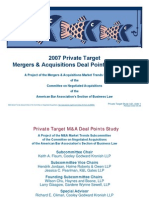 2007_Private M&a Points Study_ABA Biz Law_8.8.08