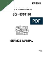 Epson SQ870SQ1170 Service Manual