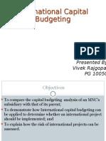 International Capital Budgeting