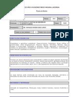 Ecologia Agronomia Plano de Ensino 2012