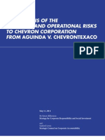 Chevron-Ecuador Risk Analysis Report May2011
