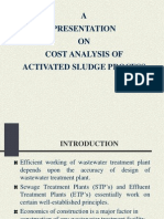 Cost Analysis of Activated Sludge Process