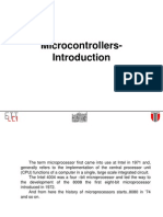 Micro Controllers 1 Introduction